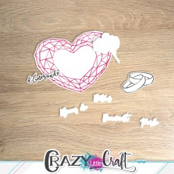 Noces de mariage - Découpes numériques - Crazy Little Craft