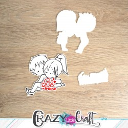 Valentine & Valentin - Découpes numériques - Crazy Little Craft