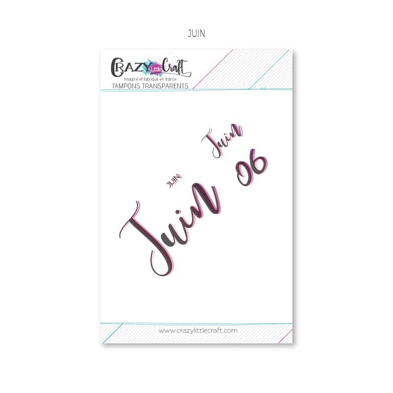 Juin - Planche de tampons transparents photopolymère pour scrapbooking - Crazy Little Craft