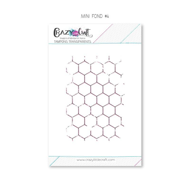 Mini fond 4 - Tampon transparent photopolymère pour scrapbooking - Crazy Little Craft