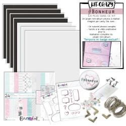 #bonheur ! Un kit complet pour la réalisation d'un bel album photos