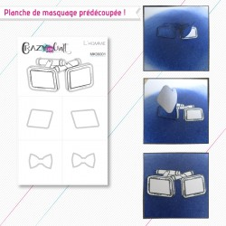 L'homme - planche de masquage Crazy Little Craft
