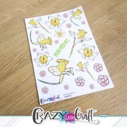 Planche de stickers papier sur le thème du printemps