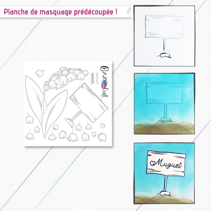 """Motifs de masquage correspondant à la planche de tampons """"Muguet"""""""