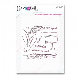 Muguet - Planche de tampons transparents photopolymère pour scrapbooking - Crazy Little Craft