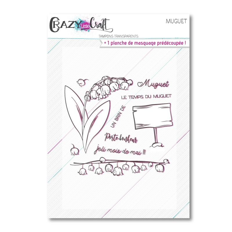 Muguet - Planche de tampons transparents photopolymère pour scrapbooking - Crazy Little Craft