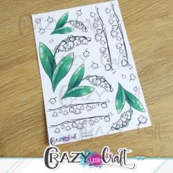 Planche de stickers en papier sur le thème du muguet, idéale au moi de mai !