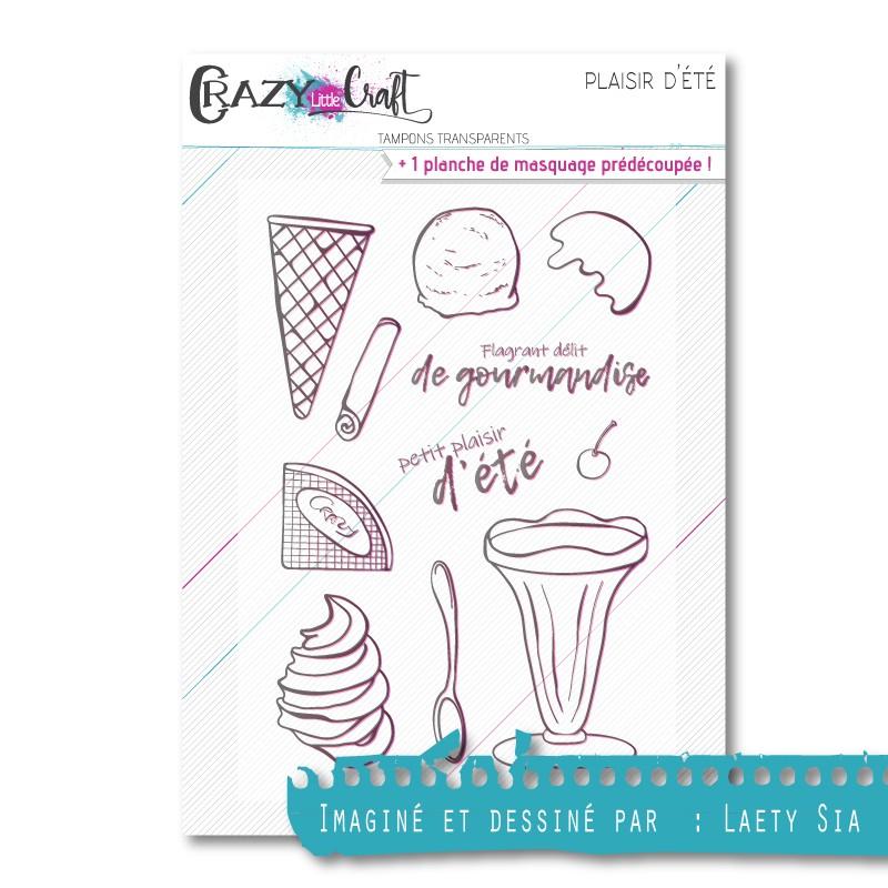 Plaisir d'été - Planche de tampons transparents photopolymère pour scrapbooking - Crazy Little Craft