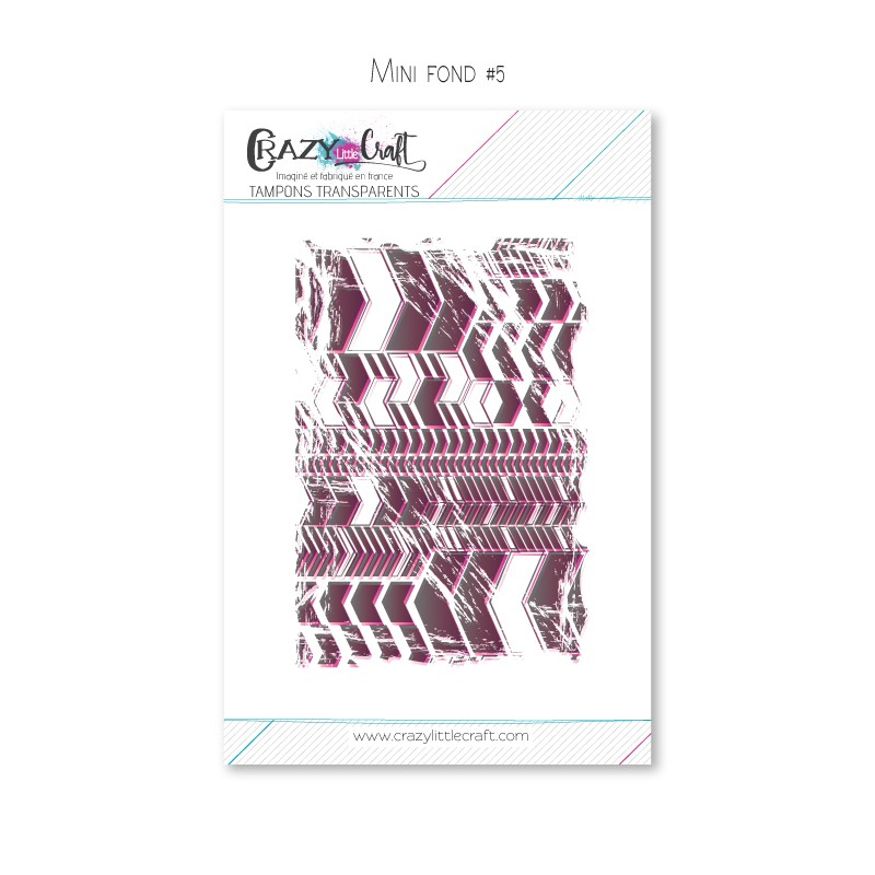 Mini fond 5 - Planche de tampons transparents photopolymère pour scrapbooking - Crazy Little Craft