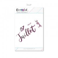 Juillet - Planche de tampons transparents photopolymère pour scrapbooking - Crazy Little Craft