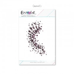 Graphik'3 -Tampon transparent photopolymère pour scrapbooking - Crazy Little Craft