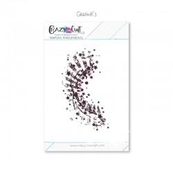 Graphik'3 -Tampon transparent photopolymère pour scrapbooking - Crazy Little Craft