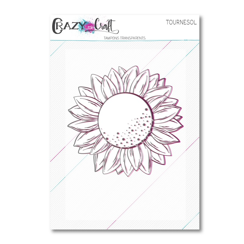 Tournesol -Tampon transparent photopolymère pour scrapbooking - Crazy Little Craft