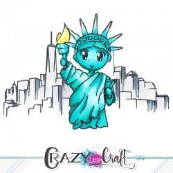 Exemple de composition avec les tampons New-York