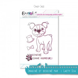 Crazy Jazz - Planche de tampons transparents photopolymère pour scrapbooking - Crazy Little Craft