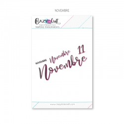 Novembre - Planche de tampons transparents photopolymère pour scrapbooking - Crazy Little Craft