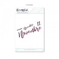 Novembre - Planche de tampons transparents photopolymère pour scrapbooking - Crazy Little Craft