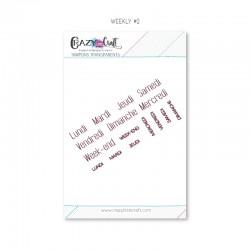 Weekly 2 - Planche de tampons transparents photopolymère pour scrapbooking - Crazy Little Craft