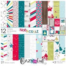 """Collection """"Noël acidulé"""" papiers recto/verso  Crazy Little Craft"""