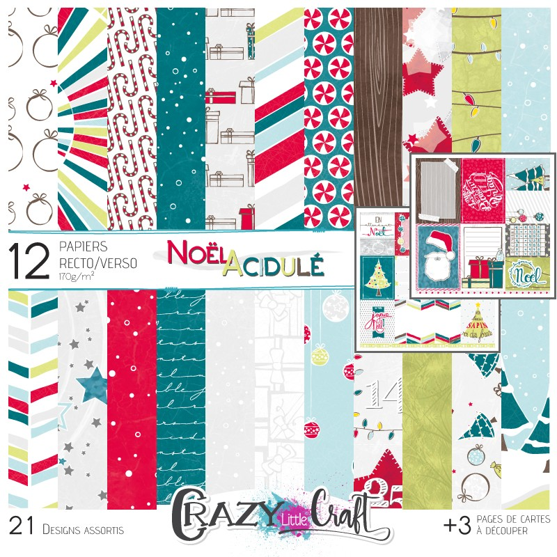 "Collection ""Noël acidulé"" papiers recto/verso 