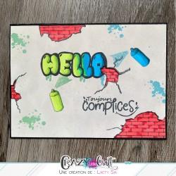 """Carte """"Graffitis"""" par Laety Sia"""