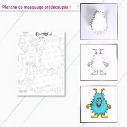 """Motifs de masquage correspondant à la planche de tampons """"Cacahuète et Touffu"""""""