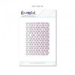 Mini fond 6 - Tampon transparent photopolymère pour scrapbooking - Crazy Little Craft