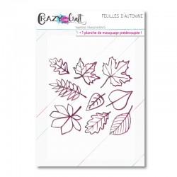 Feuilles d'automne - Planche de tampons transparents photopolymère pour scrapbooking - Crazy Little Craft