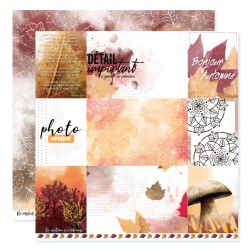 "Papier n°5 de la collection ""Automne flamboyant"" - papier scrapbooking, format  30 x 30 - Crazy Little Craft"